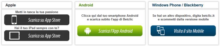 App Betclic mobile per scommesse online da dispositivo mobile