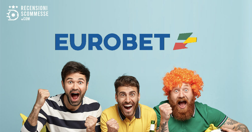 A group of friends cheering during a match with eurobet logo