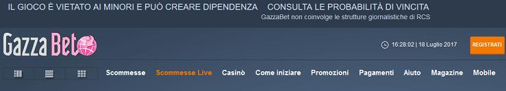 Tutto sul bonus benvenuto scommesse Gazzabet