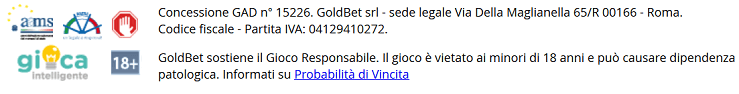 Recensione Goldbet: palinsesto, quote calcio, bonus scommesse