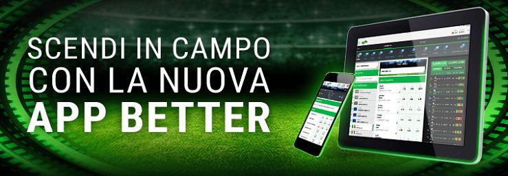Recensione Lottomatica Better: palinsesto, quote calcio, bonus scommesse