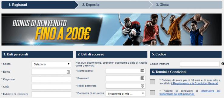 Apertura di un conto NetBet: bonus benvenuto fino a 200€