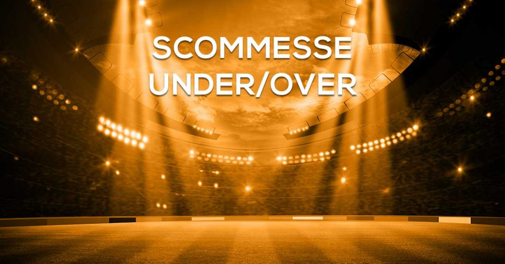 """A poster with text """"scommesse under/over"""""""