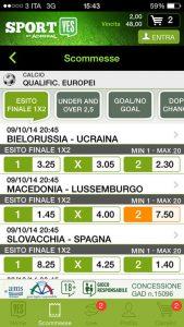 App Sportyes mobile per scommesse online da tablet e smartphone