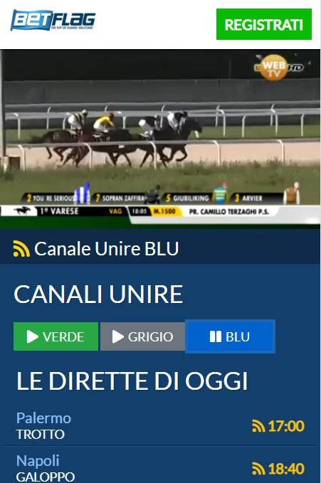 Betflag Diretta TV – Come guardare l'Ippica in streaming
