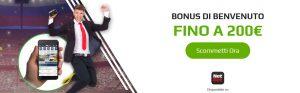 Tutto sul bonus benvenuto scommesse Netbet: fino a 200€ per nuovi clienti