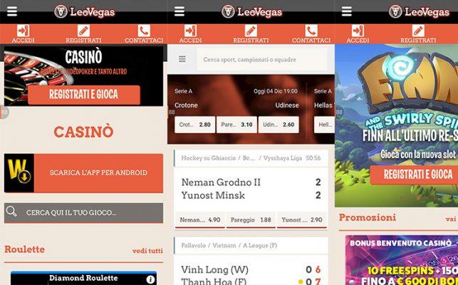 Recensione App LeoVegas: la nostra opinione
